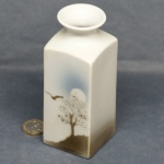 Mediun Square Vase Tree and Bird